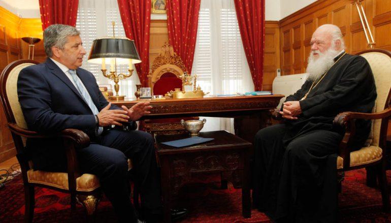 Συνάντηση Αρχιεπισκόπου με τον πρόεδρο του Ιατρικού Συλλόγου Αθηνών