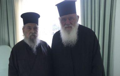 Επίσκεψη του Αρχιεπισκόπου στον Μητροπολίτη Λαρίσης (ΦΩΤΟ)