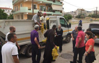 Δωρεά τροφίμων του Δήμου Λαμιέων στο Φιλανθρωπικό έργο της Ι. Μ. Φθιώτιδος