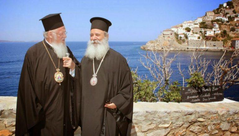 Ο Οικ. Πατριάρχης στις Σπέτσες και την Ύδρα για το Οικολογικό Συμπόσιο
