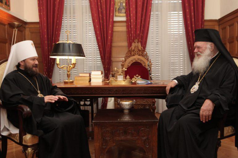 Συνάντηση Αρχιεπισκόπου με τον Μητροπολίτη Βολοκολάμσκ (ΦΩΤΟ)