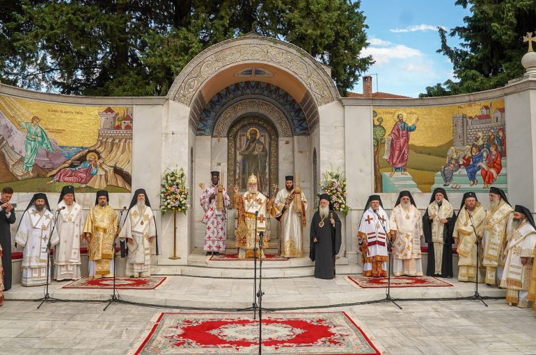 Πατριαρχικός Διορθόδοξος Εσπερινός στο Βήμα του Απ. Παύλου στη Βέροια (ΦΩΤΟ)
