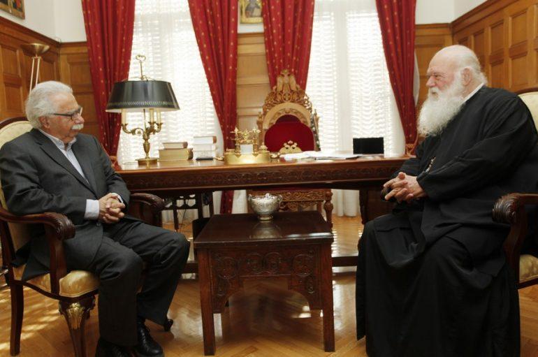 Στον Αρχιεπίσκοπο Ιερώνυμο ο Υπουργός Παιδείας Κων. Γαβρόγλου (ΦΩΤΟ)