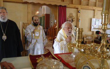 Αρχιερατική Θ. Λειτουργία από τον Μητροπολίτη Βρυούλων στην Τάλα Πάφου