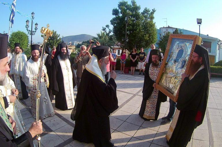 Την Θαυματουργό Εικόνα της Παναγίας Ξενιάς υποδέχθηκε η Χαλκίδα (ΦΩΤΟ)