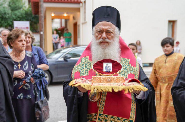 Η Νάουσα υποδέχθηκε Λείψανο του Αγίου Κοσμά του Αιτωλού (ΦΩΤΟ)