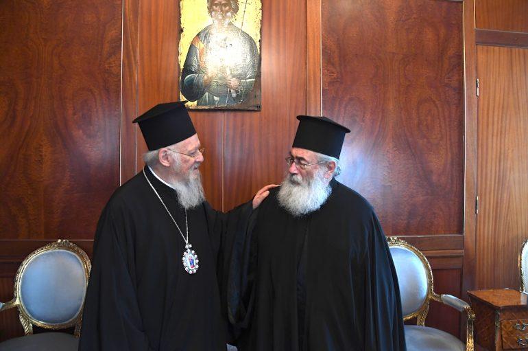 O Αρχιεπίσκοπος Σινά Δαμιανός στο Οικουμενικό Πατριαρχείο (ΦΩΤΟ)