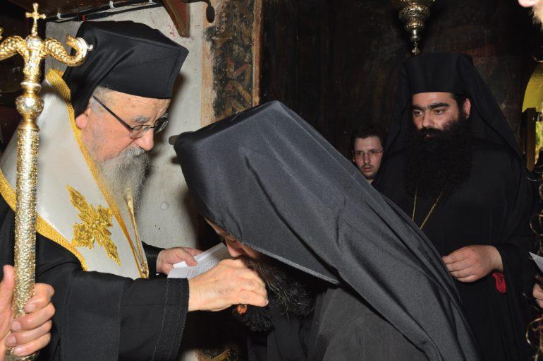 Κουρά Μοναχού στην Ι. Μονή Εισοδίων της Θεοτόκου Μυρτιάς Τριχωνίδος