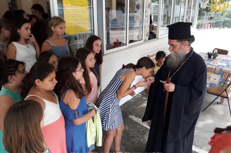 Ο Μητροπολίτης Άρτης στις Κατασκηνώσεις της Ιεράς Μητροπόλεώς του (ΦΩΤΟ)