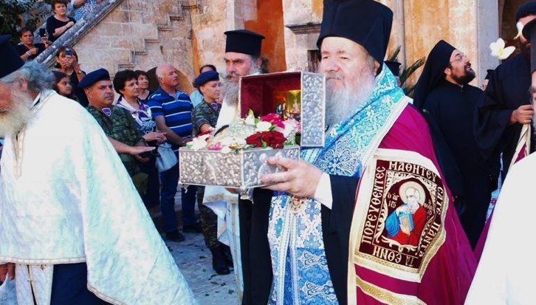 Υποδοχή της Τιμίας Κάρας του Οσίου Δαβίδ στην Ι. Μ. Τζαγκαρόλων (ΦΩΤΟ)