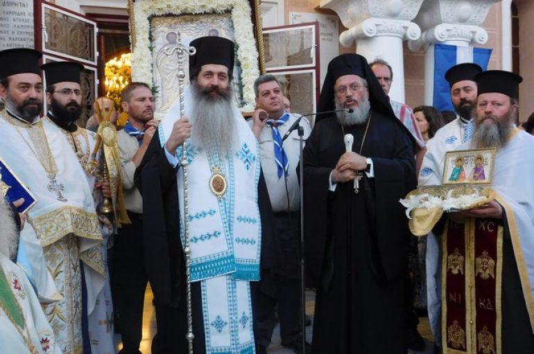 Με λαμπρότητα πανηγύρισε ο Ι. Ναός Αγίων Αναργύρων Αττικής (ΦΩΤΟ)