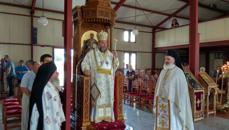 Ο Μητροπολίτης Καρθαγένης στον Ι. Ναό Αγίας Αικατερίνης Καλαμάτας (ΦΩΤΟ)