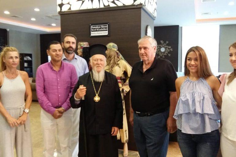 Η άφιξη του Οικουμενικού Πατριάρχη στην Πάνορμο (ΦΩΤΟ)