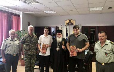 Ο Μητροπολίτης Νεαπόλεως συνάντησε τους 2 Έλληνες στρατιωτικούς (ΦΩΤΟ)