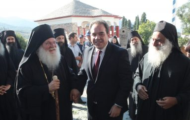 Επίσκεψη του νέου Πολιτικού Διοικητή στην Ι. Μονή Βατοπαιδίου (ΦΩΤΟ)