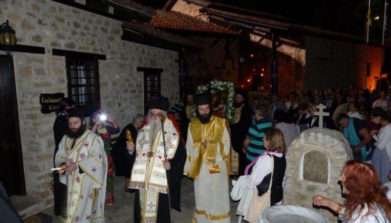 Υπαίθρια Αγρυπνία στην Ιερά Μονή Παναγίας Μαυριωτίσσης (ΦΩΤΟ)