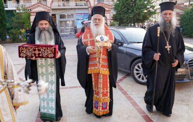 Τεμάχιο Λειψάνου και τον Σταυρό του Αγ. Κοσμά υποδέχθηκε η Αλεξάνδρεια (ΦΩΤΟ)