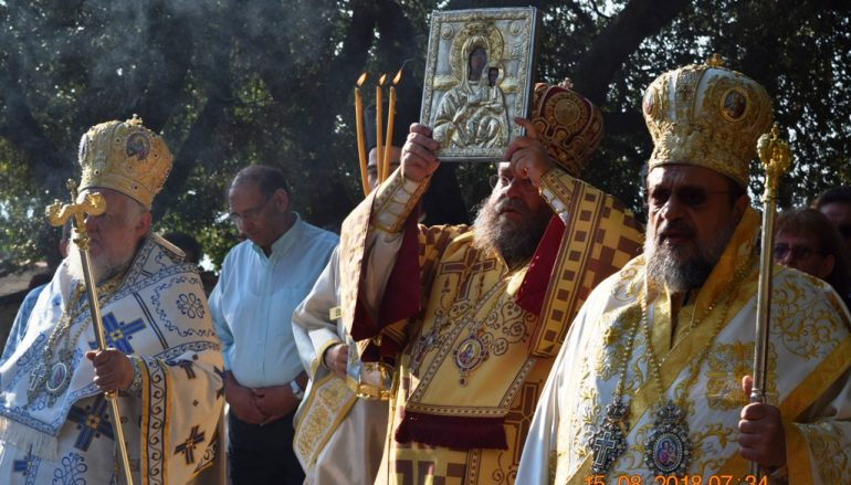 H εορτή Κοιμήσεως της Θεοτόκου στην Ι. Μονή Βουλκάνου Μεσσηνίας (ΦΩΤΟ)