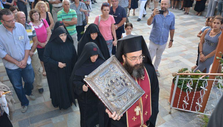 Πανηγυρικός εσπερινός στην Ιερά Μονή Κοιμήσεως Θεοτόκου Μαλεβής (ΦΩΤΟ)