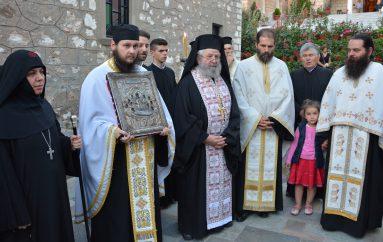 Μεθέορτος Εσπερινός και Ενθρόνιση της Παναγίας Μαλεβής (ΦΩΤΟ)