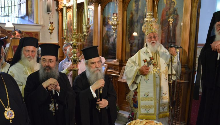 Ο Αρχιεπίσκοπος στα Ονομαστήρια του Μητροπολίτη Μαντινείας (ΦΩΤΟ)