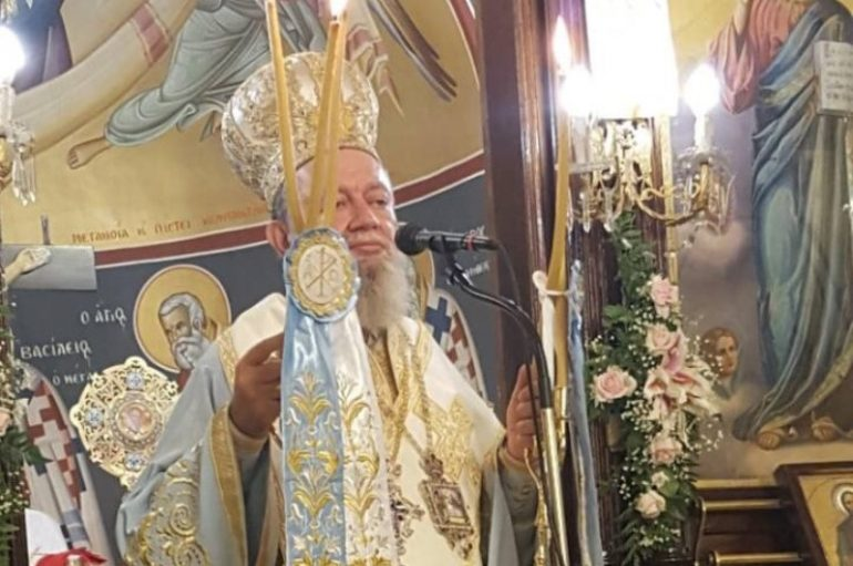 Η εορτή της Κοιμήσεως της Θεοτόκου στην Ι. Μητρόπολη Χαλκίδος (ΦΩΤΟ)