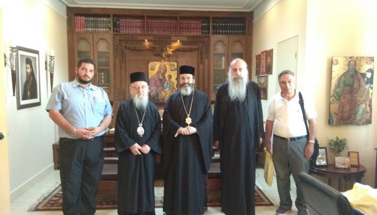 Επίσκεψη του Επισκόπου Μεσαορίας στην Ιερά Πόλη Μεσολογγίου