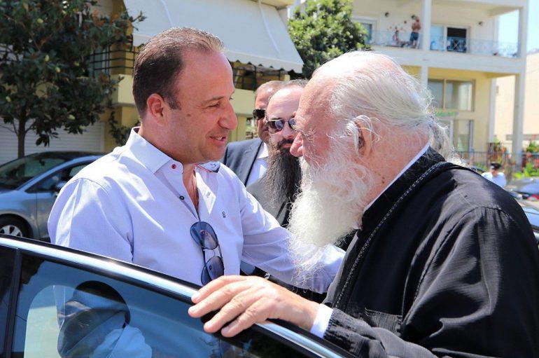 Επίσκεψη του Αρχιεπισκόπου Ιερωνύμου στον Δήμο Παγγαίου