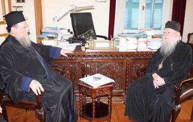 Τον Μητροπολίτη Ηλείας επισκέφθηκε ο Επίσκοπος Ευκαρπίας