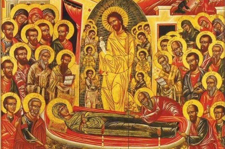 Η εικόνα της Κοιμήσεως της Θεοτόκου της Ι. Μονής Παναγίας του Ballamand