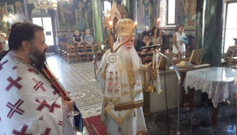 Αρχιερατική Θεία Λειτουργία στον Άγιο Νικολαο Άνω Βάθειας (ΦΩΤΟ)