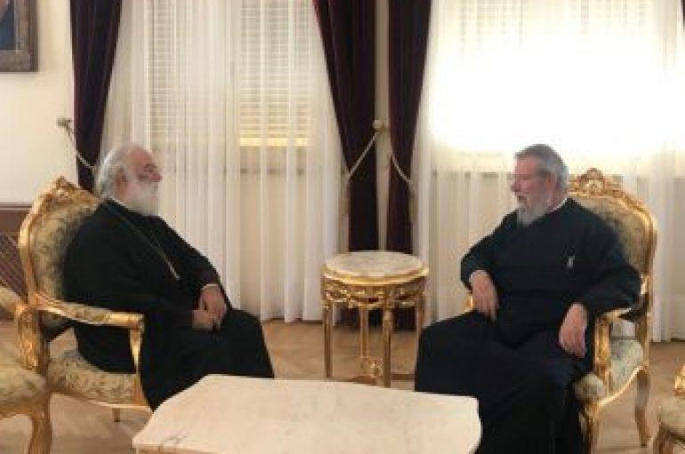 Συνάντηση Πατριάρχη Αλεξάνδρειας με Αρχιεπίσκοπο Κύπρου (ΦΩΤΟ)