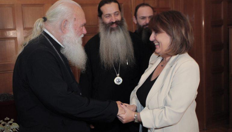 Η Υφυπουργός Αγροτικής Ανάπτυξης στον Αρχιεπίσκοπο (ΦΩΤΟ)