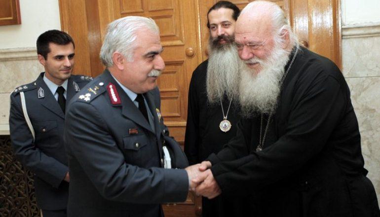 Eπίσκεψη του Αρχηγού της Ελληνικής Αστυνομίας στον Αρχιεπίσκοπο (ΦΩΤΟ)