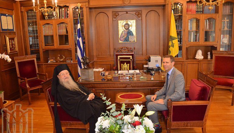 Ο νέος Πρόξενος της Αμερικής στη Θεσσαλονίκη στον Μητροπολίτη Θεσσαλονίκης