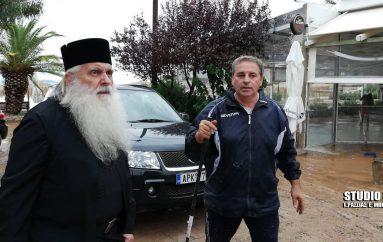 Επίσκεψη του Μητροπολίτη Αργολίδας στις πληγείσες περιοχές (ΦΩΤΟ)