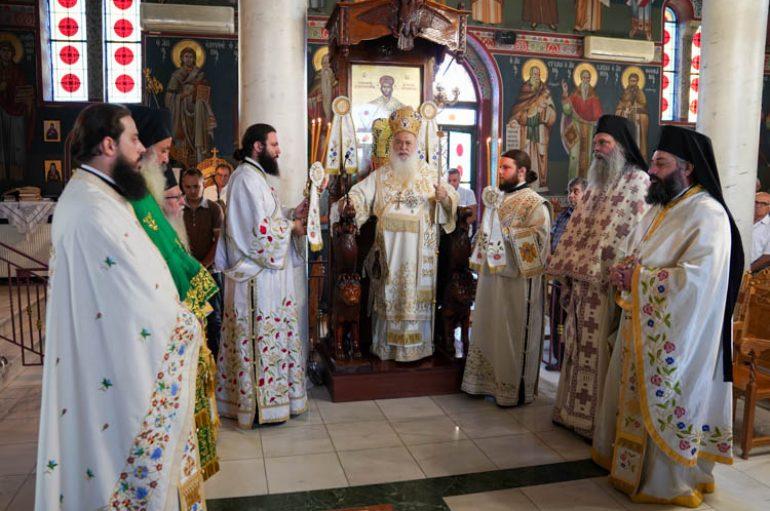 Αρχιερατική Θ. Λειτουργία στον Ι. Ναό Τιμίου Προδρόμου Μακροχωρίου (ΦΩΤΟ)