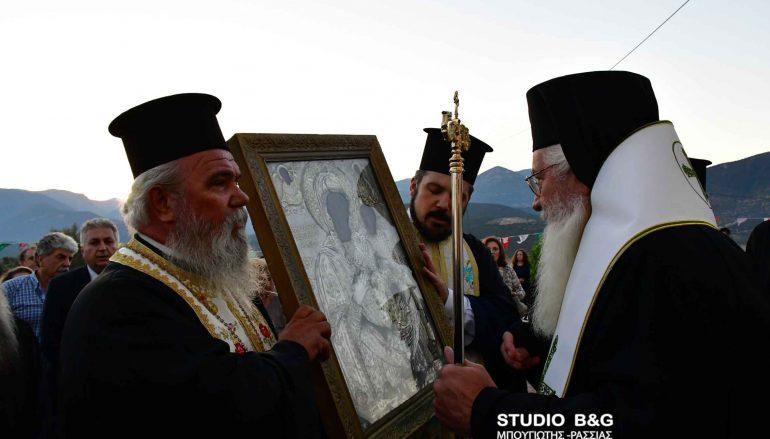 Εσπερινός της Παναγίας Μυρτιδιώτισσας στο Μαλαντρένι Αργολίδος (ΦΩΤΟ)