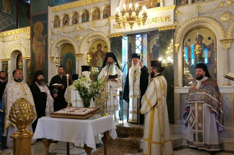 Ο Αρχιεπίσκοπος στο Μνημόσυνο της μακαριστής Καθηγουμένης Θεοφανούς (ΦΩΤΟ)
