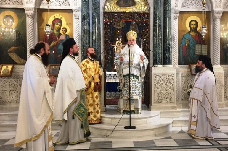 Ο Επίσκοπος Μεθώνης στο Προσκύνημα του Οσίου Ιωάννου του Ρώσου (ΦΩΤΟ)