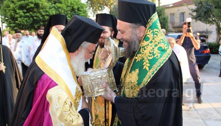 Η Καλαμπάκα υποδέχθηκε την κάρα του Πολιούχου της Αγ. Βησσαρίωνος (ΦΩΤΟ)