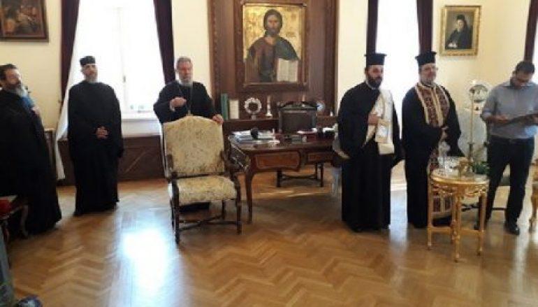 Αγιασμός για την έναρξη του νέου εκκλησιαστικού έτους στην Αρχιεπισκοπή Κύπρου