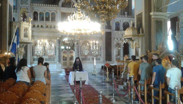 Ο Μητροπολίτης Χίου με τα παιδιά Ιερέων (ΦΩΤΟ)
