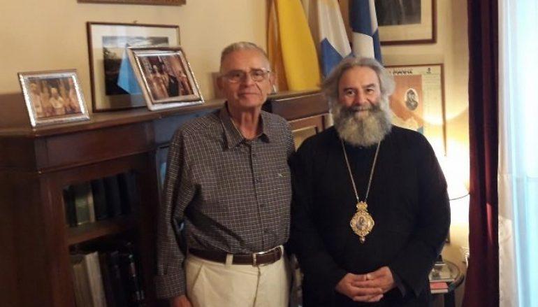 Επίσκεψη του Ιστορικού Σαράντου Καργάκου στον Μητροπολίτη Μάνης