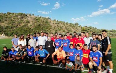Αγιασμός σε ομάδες ποδοσφαίρου από τον Μητροπολίτη Μάνης (ΦΩΤΟ)