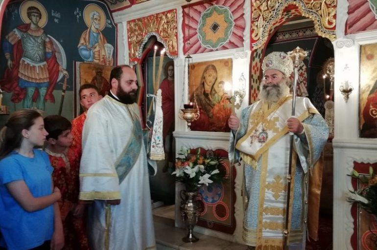 Αρχιερατική Θεία Λειτουργία στον Κότρωνα Μάνης (ΦΩΤΟ)