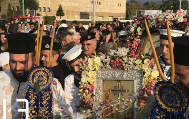 Η Θεσσαλονίκη υποδέχθηκε την Παναγία των Ελαιών και Τίμιο Ξύλο (ΦΩΤΟ)