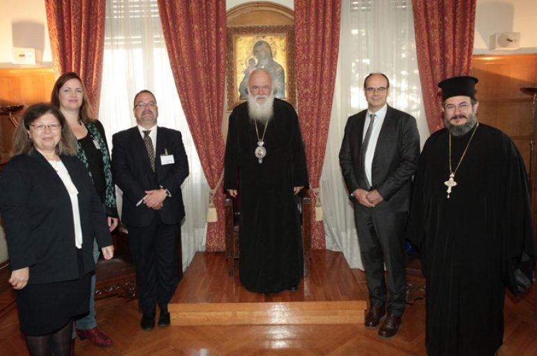 Συνάντηση του Αρχιεπισκόπου με αντιπροσωπεία των Ευρωπαϊκών Εκκλησιών