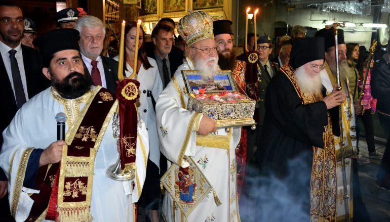 Μεγαλειώδης η υποδοχή της Αγίας Ζώνης στην Τρίπολη (ΦΩΤΟ)