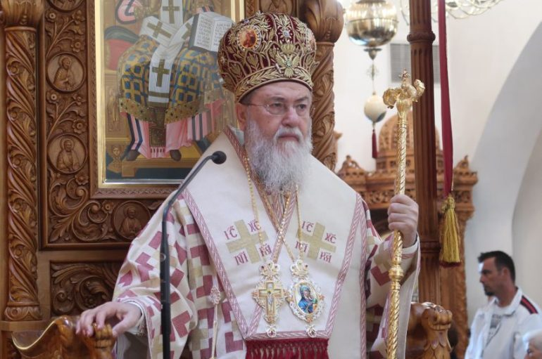 Ο Μητροπολίτης Κορίνθου στον Ι. Ναό Αγίου Δημητρίου Μπραχαμίου (ΦΩΤΟ)